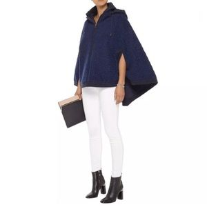 SEE BY CHLOE HOODED BOUCLE CAPE capelet coat